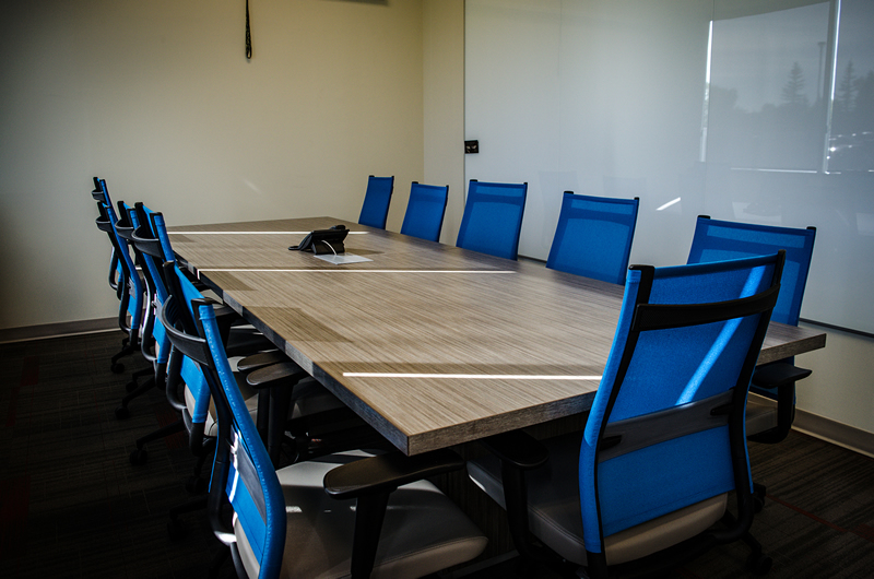 evolution glass contact boardroom