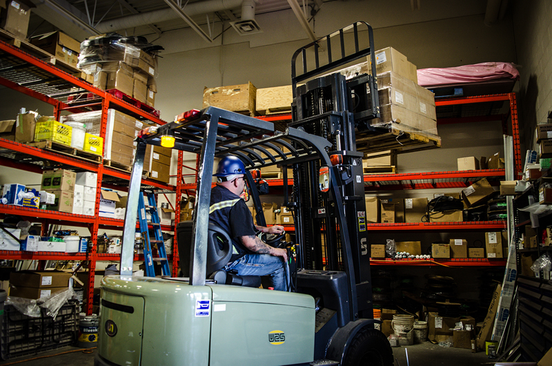 evolution glass warehouse forklift
